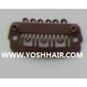 XL ORDER 100 PCS 2,3cm donker bruine clips