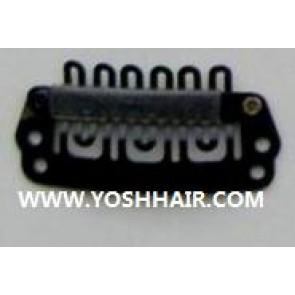 2.8 cm zwarte clips