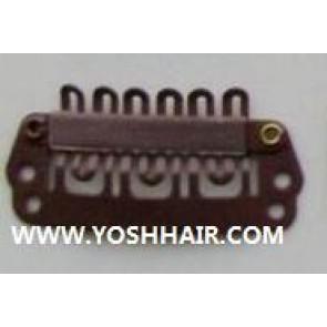 XL ORDER 100 PCS 2.8 cm donker bruine clips