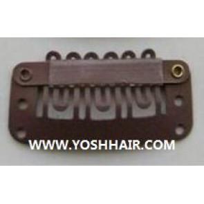 3.2 cm donker bruine clips