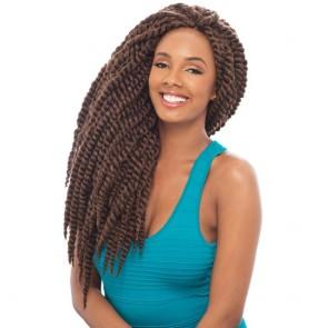 2X HAVANA MAMBO TWIST BRAID 24 Inch #2  Black brown