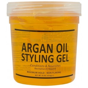 Nubian queen styling gel argan 454 gram